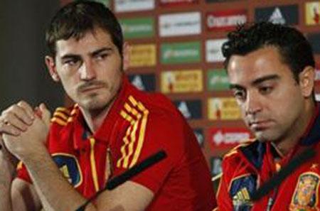 Iker Casillas e Xavi